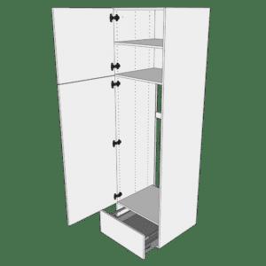 Ekstra højt indbygningsskab til ovn H: 214,4 cm D: 60,0 cm - 2 låger & 1 skuffe fuldudtræk/softluk